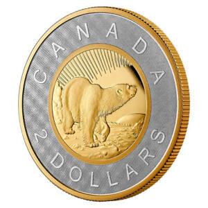 2021 Canada Renewed Silver Toonie - 25th anniv of toonie Gold plated silver 2 oz