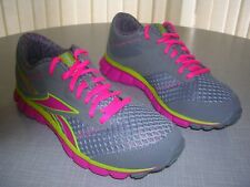 REEBOK SMOOTH FLEX, WOMEN'S RUNNING TRAINERS - UK SIZE 5 1/2, GREY, PINK & LIME