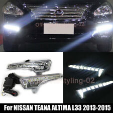2PCS For 2013-2015 Nissan Altima L33 LED DRL Daytime Running Driving Lamp Lights