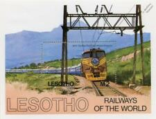 South African Railways (SAR) The Blue Train Class 6E1 Stamp Sheet (1984 Lesotho)