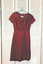 Vintage Party Dress 1940-50 Deep Red Taffeta Silk Koupycraft UK Designer SZ 14