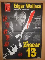 Edgar Wallache Zimmer 13 Joachim Fuchsberger Filmplakat 60x80cm gefaltet