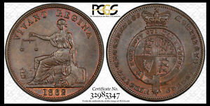 NEW ZEALAND 1862 E. DE CARLE & CO. PENNY TOKEN KM-TN17 PCGS AU DETAILS