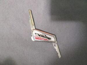 "1955 1956 1957 Ford Thunderbird Vintage ""Hide-a-Key"" Keychain w/ Door & Ign.Keys"