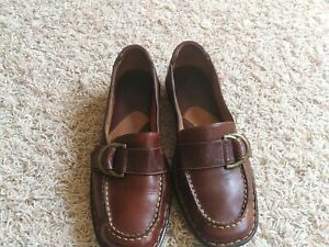 Born Brown Leather  Strap Buckle Clog  Shoes Women's US Size 10