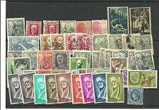España y Colonias. Conjunto de 50 sellos a destacar ls serie Fernando Poo179/87*