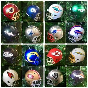 NFL Replica Mini American Football Helmet Christmas Tree Decoration