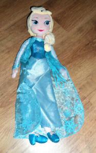 Puppe  Stoffpuppe  Elsa (Die Schneeköniginn)  ca. 50 cm groß  Disney-Store