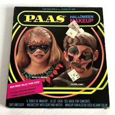 Vintage PAAS Halloween Makeup Activity Kit Princess Ankhar and Colonel Camo NOS