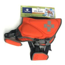 Top Paw Dog Life Jacket Vest Red Neoprene Quick Release 30-55# Med Rescue Handle