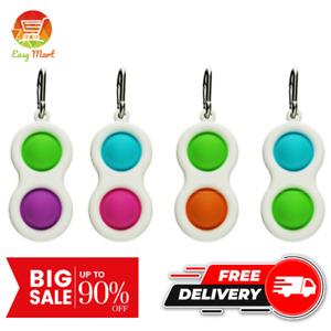Simple Dimple Pop It Two Bubble Sensory Baby Fidget Toy Stress Relief Key Chain