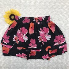 Aeropostale Juniors Mini A-Line Skirt Size S Black Floral Layered Lined ir3453