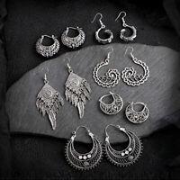 Wholesale 6 Pairs Women Vintage Bohemian Oval Dangle Fashion Jhumka Earrings New