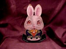 MARKS BROS. CO., ROCKING RABBIT TOY. PRESSED PAPER FIGURE W/ MOVING EYES,  '20's