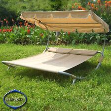 Doppelliege Gartenliege Sonnenliege Relax Liege für 2 Personen G-BB Beige
