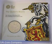 2017 Queens Beasts Unicorn Of Scotland BU £5 Five Pound Coin Pack Royal Mint