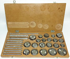 Valve Seat & Face Cutter Set - 21 Pcs Set For Vintage Cars & Bikes In Wooden Box