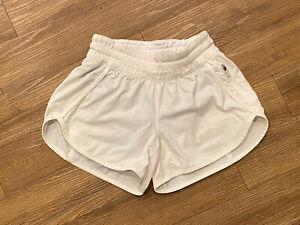 Womens Lululemon Track That Mid-Rise Lined Shorts White Size 4