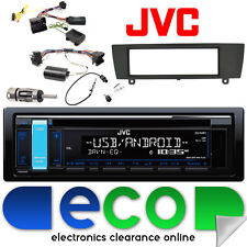 BMW 1 Series E81 E82 E87 E88 JVC CD MP3 USB Car Radio & Steering Interface Kit