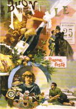 Grußkarte Reprint: historische Neujahrskarte, 1897, Italien