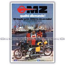 PUB MZ 125 TS TROPHY SPRINT - Original Advert / Publicité Moto de 1975 #1