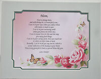 """""""You've Always Been"""" Personalized Poem for Mom Mother's Days and Birthday Gift"""