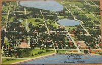 1940 Linen Postcard - ''View of Clermont, Florida, FL''