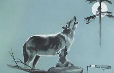 Original Indian Choctaw Tempera Painting - Doug Maytubbie - signed & dated