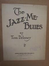 Foglio CANZONE IL JAZZ me BLUES TOM DELANEY 1921