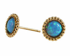 Gold Filled Opal stone Stud Clasic earrings