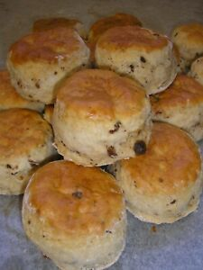 6  HOME MADE DATE  SCONES    Free Postage   Family Bakery Shop