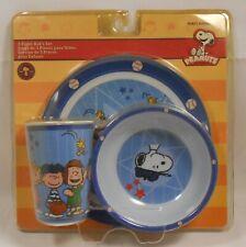 Mealtime Set PEANUTS Plate Bowl Cup Break Resistant Feeding 3pc S1