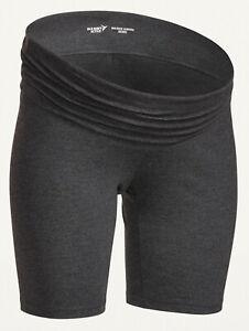 Old Navy Maternity Rollover-Waist Balance Biker Shorts -- 8-inch inseam Size XS