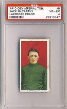 JACK McCARTHY 1910-11 Imperial Tobacco C60 Lacrosse #5 PSA 4 Shamrocks 3047