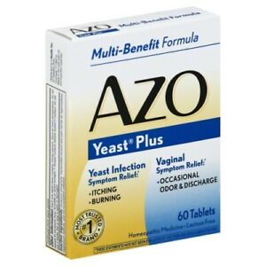 Azo, Yeast Plus, Vaginal Yeast Infection & other 60 Tablets - Original