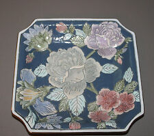 Vintage Andrea by Sadek Decorative Square Plate Floral - Famille Rose Style