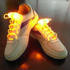 1 Paire Lacets Lumineux A LED ColorLight Chaussure Collier Bracelet Neuf - JAUNE