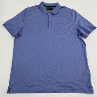 Banana Republic Polo Shirt Men's XL Short Sleeve Blue Luxury Touch Standard Fit