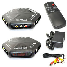 4 in 1 out S-Video Video Audio Game RCA AV Switch Box Selector Splitter+Remote