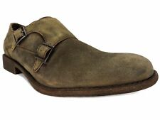 Kenneth Cole Reaction Men's Design 20644 Monk-Strap Loafers Taupe Suede Size 8.5
