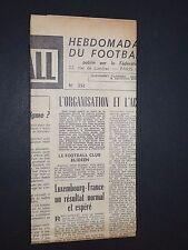 FRANCE FOOTBALL OFFICIEL HEBDOMADAIRE FFF N°392 22/09 1953