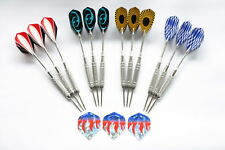 Dartpfeile 12 Steeldarts verchromt +WA Flight Set zum Hammerpreis!