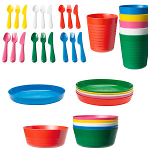 IKEA Kalas Children's Kids Plastic Plate Cups Bowls Cutlery Set or Individual