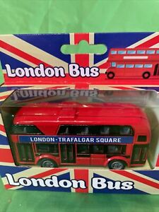 Red London Bus Model Car Toy Children For Kids Gift Souvenir Double Decker