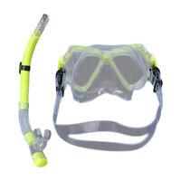 Unisex Taucherbrille mit Schnorchel Set Anti-Fog Schnorchelset Tauchset für