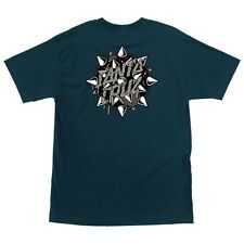 Santa Cruz Mace Dot Skateboard T Shirt Harbor Blue Xxl
