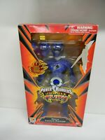 2007 Bandai Power Rangers Jungle Fury Mega Jaguar Blue Ranger Figure w/ 3 Masks