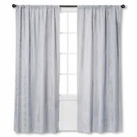 """Circo Boys & Girls Room Curtain Gray Striped Print OneLined Panel 42"""" X 63"""""""