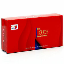 10Pcs UNIDUS The Touch Strawberry Dotted Lubricated Natural Latex Condom Pack EF