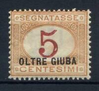 Italia 1925 Sass. 1 Nuovo * 100% Segnatasse 5 c.